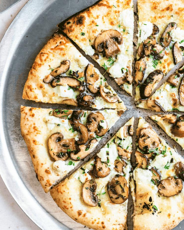 Goat Cheese Mushroom Pizza