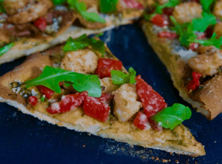 Hot and Spicy Shrimp Pizza with Arugula – Caribbean Green Living