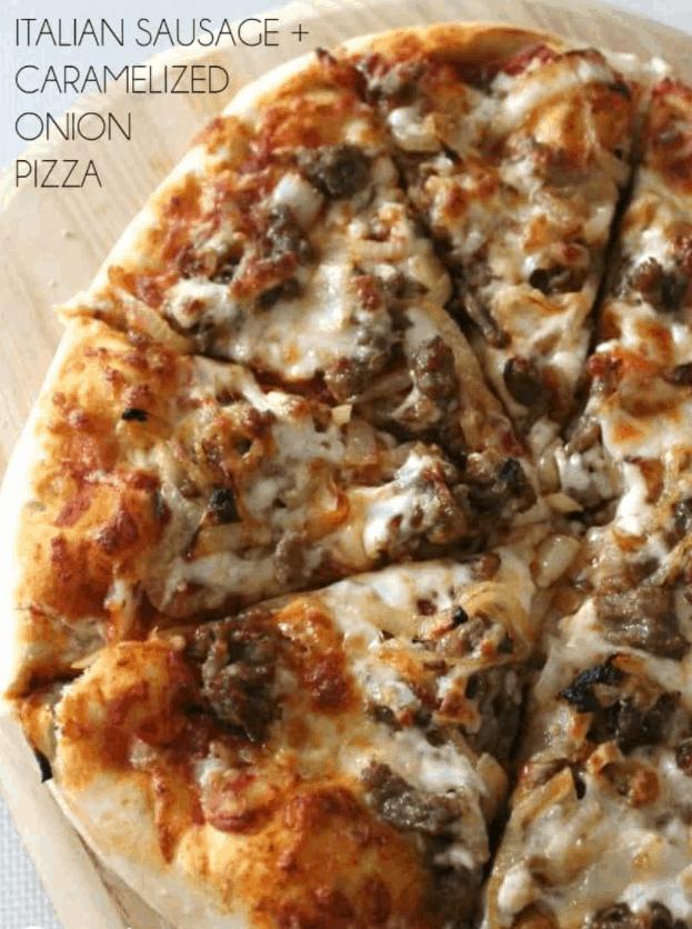 Italian Sausage & Caramelized Onion Pizza – Bread Booze Bacon