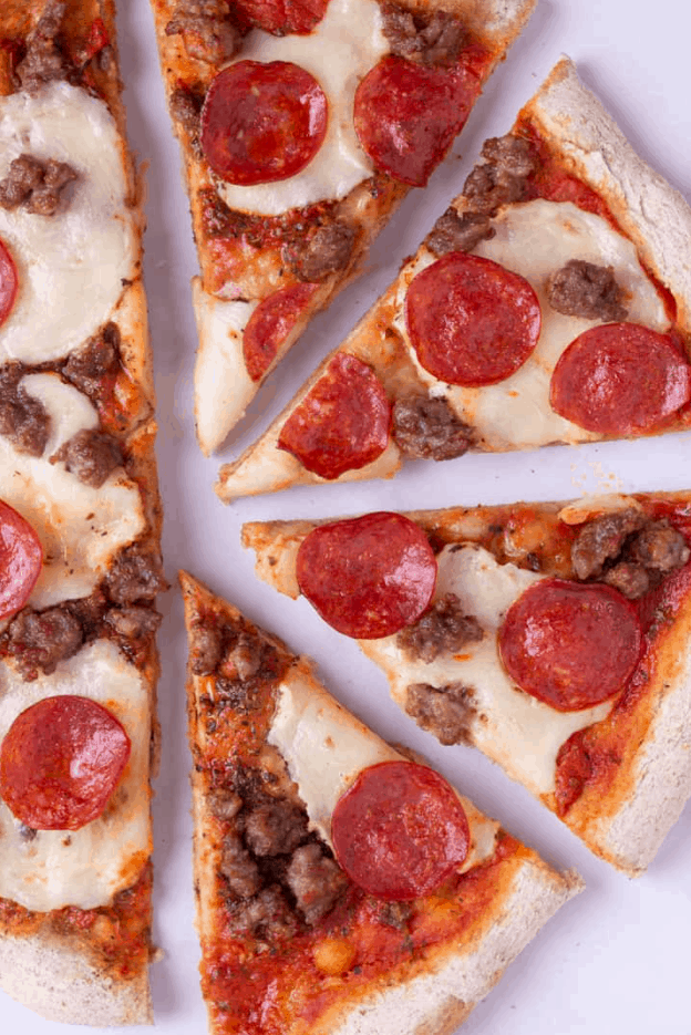 Italian Sausage and Pepperoni Pizza – A Sweet Pea Chef