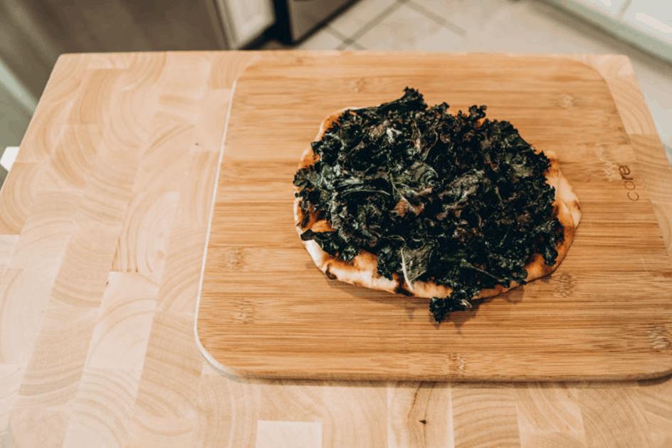 Miss Enocha's Vegan Kale Pizza