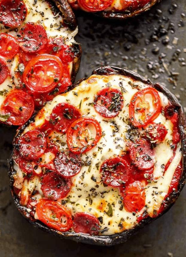 Pepperoni Portobello Pizza