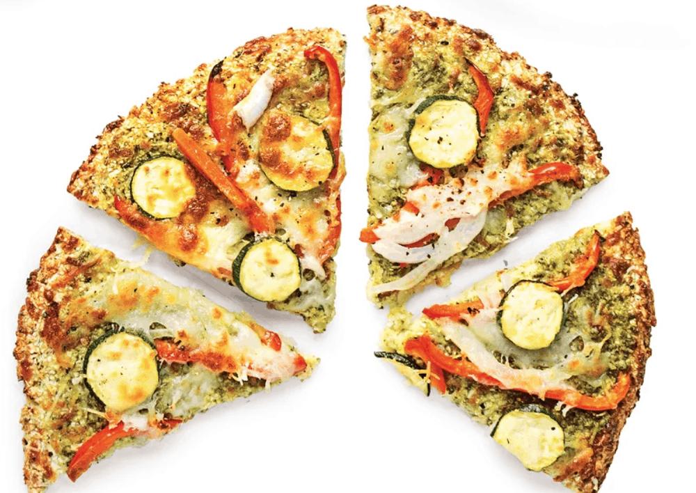 Pesto Cauliflower Pizza