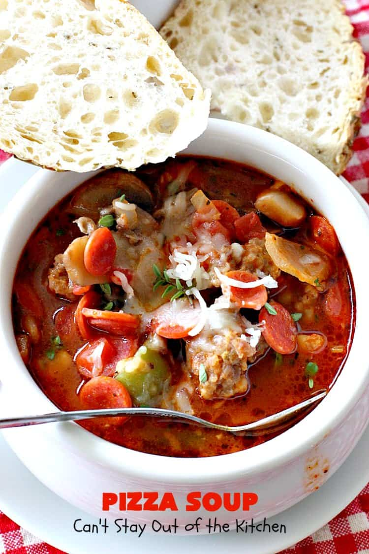Pizza Soup – Can't Stay Out of the Kitchen
