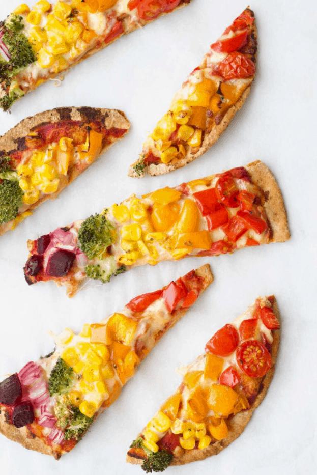Rainbow Pitta Pizza