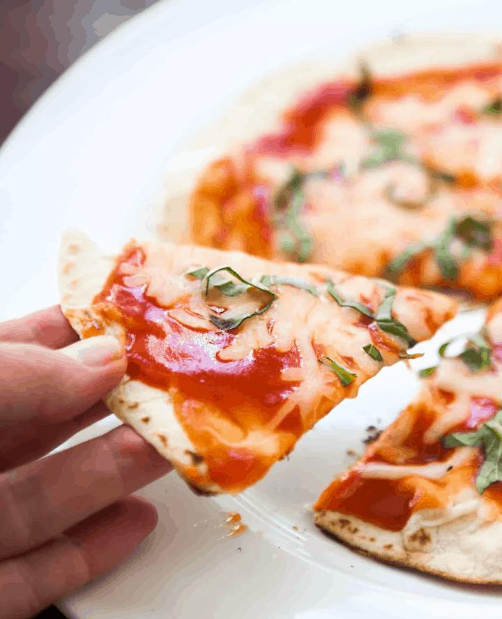 Skillet Tortilla Pizza