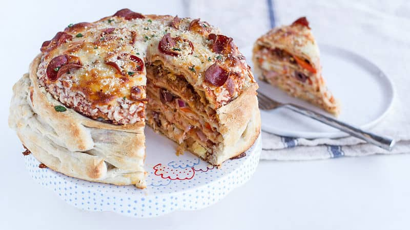 Spicy Italian Pizza Cake