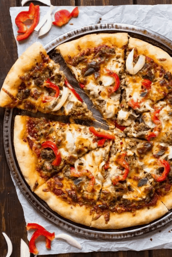 Spicy Sausage Pizza – Baked by an Introvert
