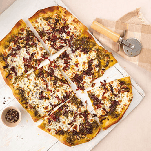 Sun-Dried Tomato and Pesto Pizza