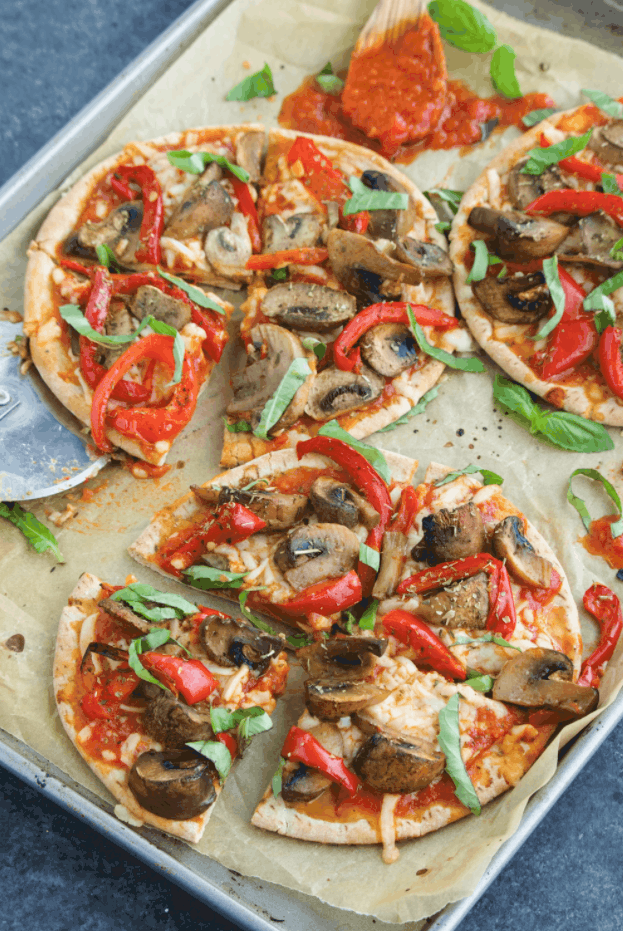 Vegan Pita Pizza
