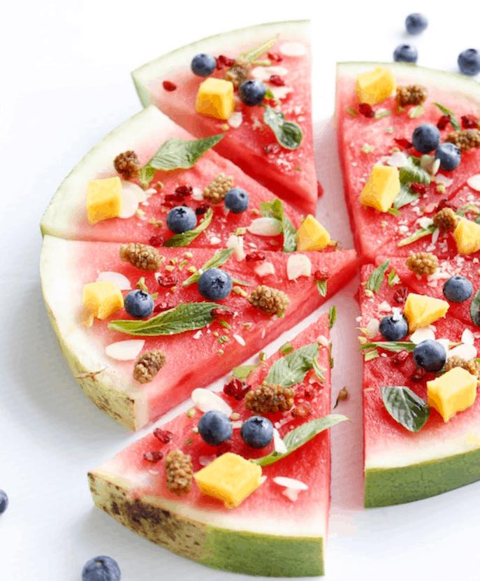 Watermelon Dessert Pizza Recipe
