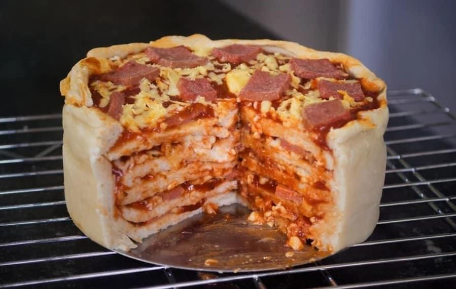 WikiHow Pizza Cake 2